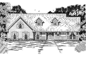 Country Exterior - Front Elevation Plan #42-248