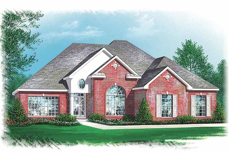 Traditional Exterior - Front Elevation Plan #15-343 - Houseplans.com