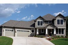 Architectural House Design - Craftsman Exterior - Front Elevation Plan #51-1101