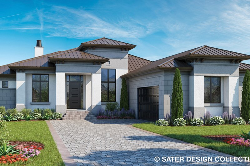 Contemporary Style House Plan - 3 Beds 2.5 Baths 2250 Sq/Ft Plan #930-502 Exterior - Front Elevation