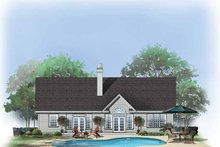 Dream House Plan - Ranch Exterior - Rear Elevation Plan #929-420