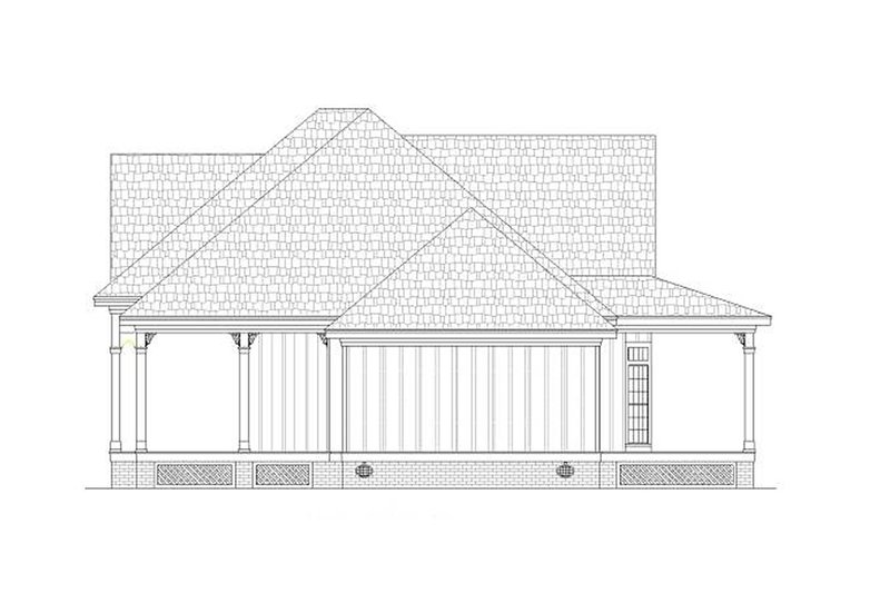 Cottage Exterior - Other Elevation Plan #45-378 - Houseplans.com