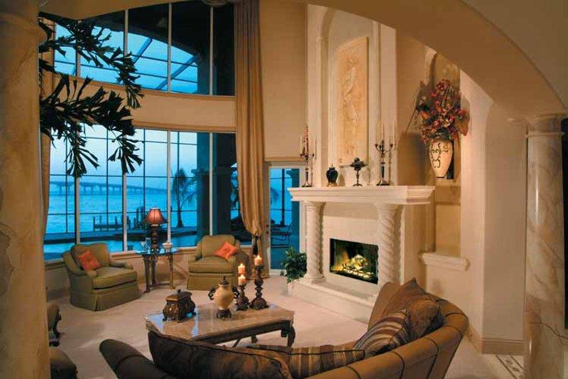 Mediterranean Interior - Family Room Plan #930-317 - Houseplans.com