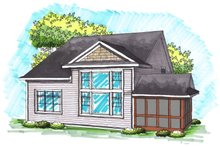 House Design - Traditional Exterior - Rear Elevation Plan #70-1035