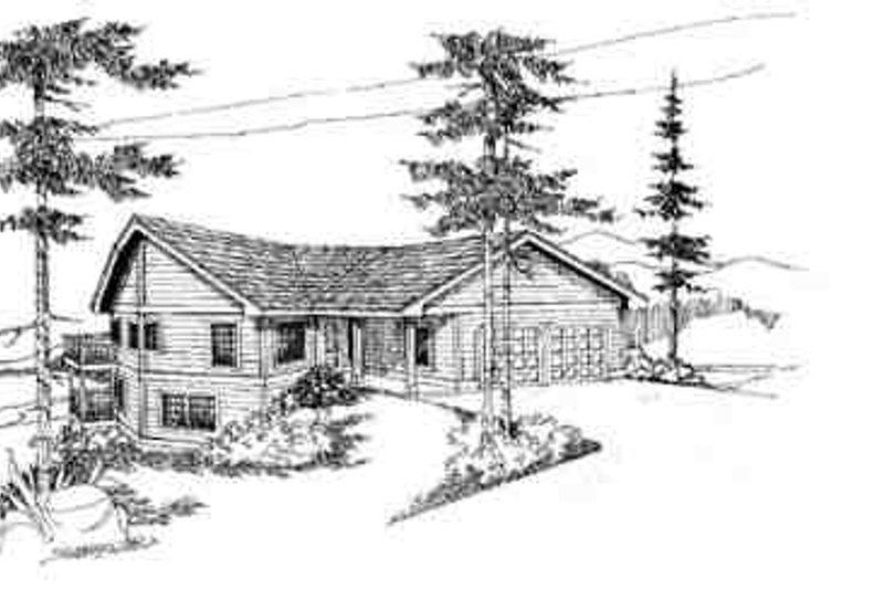 Contemporary Exterior - Front Elevation Plan #60-603 - Houseplans.com
