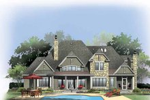 Country Exterior - Rear Elevation Plan #929-850