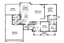 Craftsman Floor Plan - Main Floor Plan Plan #1010-161