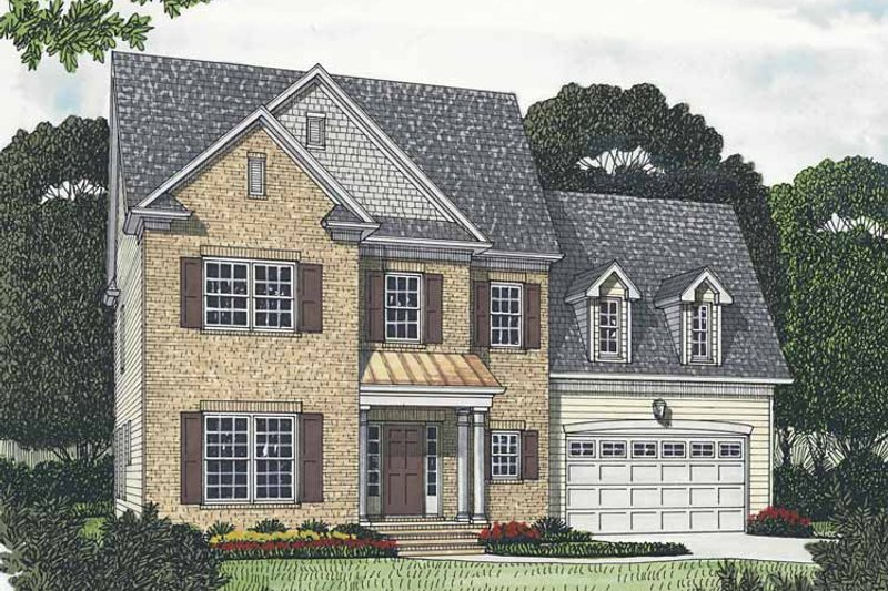 Traditional Exterior - Front Elevation Plan #453-537 - Houseplans.com