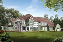 Craftsman Exterior - Rear Elevation Plan #132-246