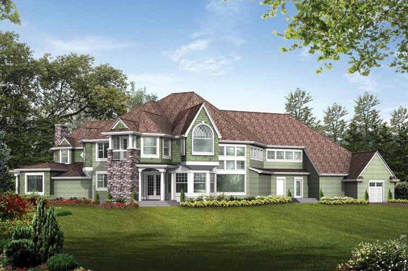 Craftsman Exterior - Rear Elevation Plan #132-246 - Houseplans.com