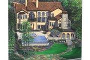 Mediterranean Style House Plan - 5 Beds 7.5 Baths 8756 Sq/Ft Plan #458-22 Exterior - Rear Elevation