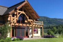 Home Plan - Log Exterior - Outdoor Living Plan #451-27