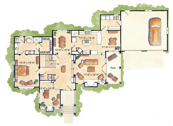 Craftsman Floor Plan - Main Floor Plan Plan #942-12