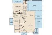Southern Style House Plan - 3 Beds 3 Baths 2995 Sq/Ft Plan #17-2593 Floor Plan - Main Floor