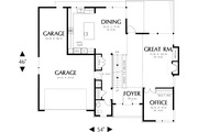 Prairie Style House Plan - 4 Beds 3.5 Baths 3651 Sq/Ft Plan #48-245 Floor Plan - Main Floor