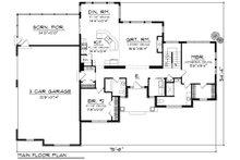 Craftsman Floor Plan - Main Floor Plan Plan #70-1169