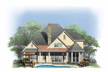 Dream House Plan - Cottage Exterior - Rear Elevation Plan #929-843