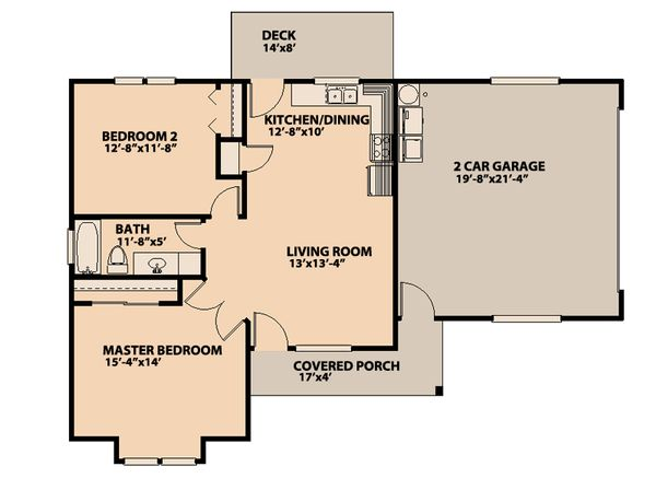 Ranch Floor Plan - Main Floor Plan #515-13