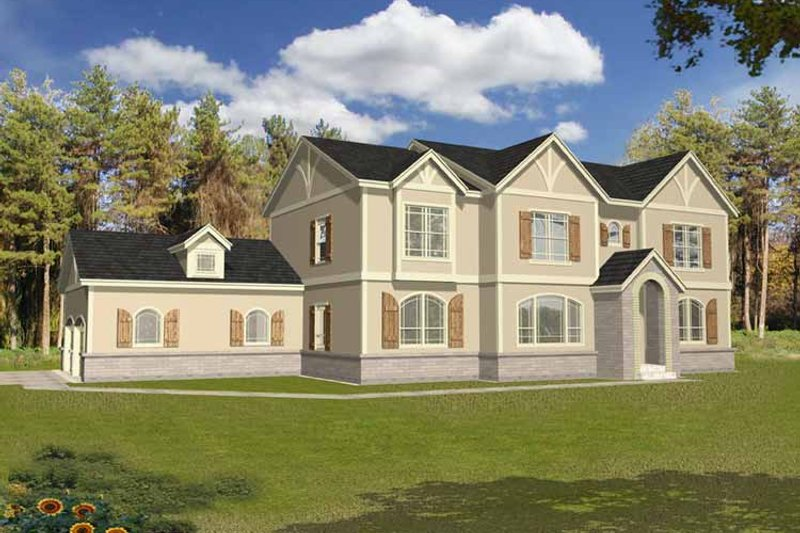 Traditional Exterior - Front Elevation Plan #1037-9 - Houseplans.com