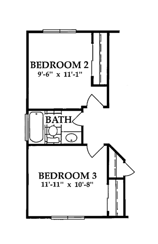 European Floor Plan - Main Floor Plan Plan #942-8