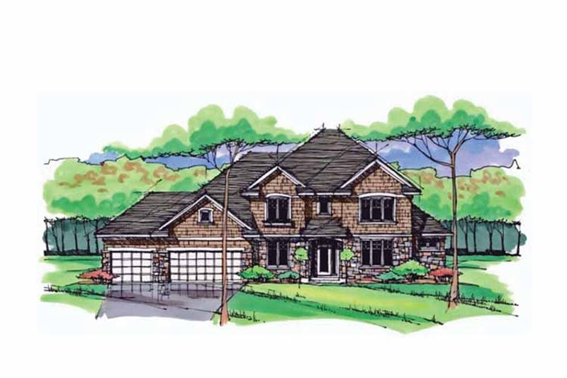 Dream House Plan - Colonial Exterior - Front Elevation Plan #51-1023