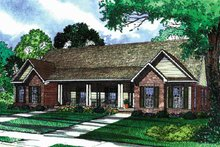 Home Plan - Country Exterior - Front Elevation Plan #17-3159