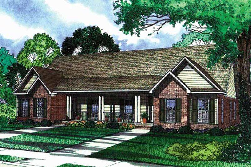 House Plan Design - Country Exterior - Front Elevation Plan #17-3159