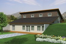 House Design - Contemporary Exterior - Rear Elevation Plan #117-863