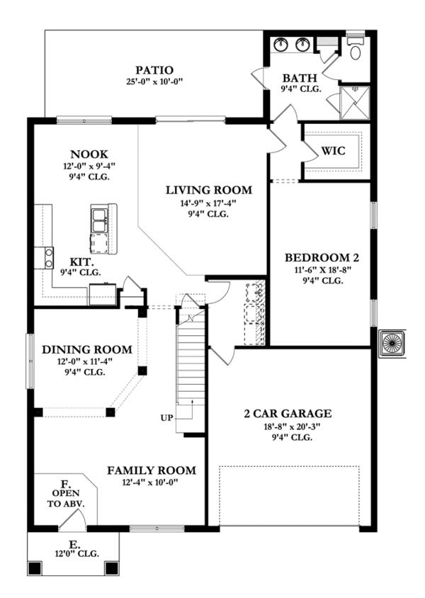Mediterranean Floor Plan - Main Floor Plan Plan #1058-65