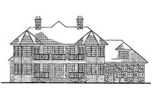 Country Exterior - Rear Elevation Plan #930-10