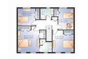 Colonial Style House Plan - 4 Beds 2.5 Baths 1895 Sq/Ft Plan #23-2479 Floor Plan - Upper Floor
