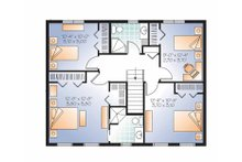 Colonial Floor Plan - Upper Floor Plan Plan #23-2479