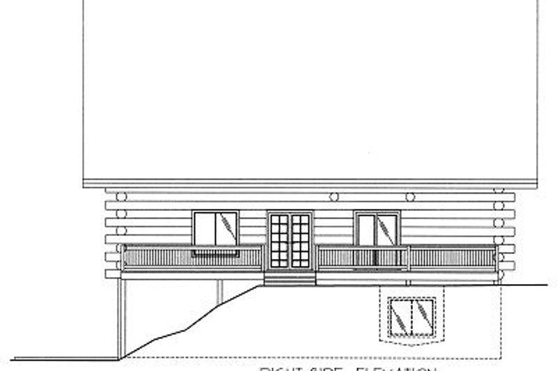 Log Exterior - Rear Elevation Plan #117-501 - Houseplans.com