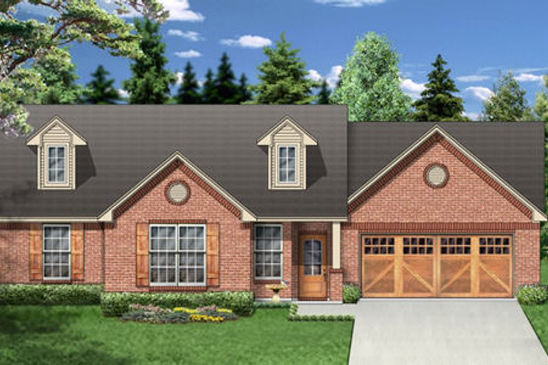 Traditional Exterior - Front Elevation Plan #84-355 - Houseplans.com