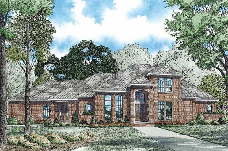 Dream House Plan - Mediterranean Exterior - Front Elevation Plan #17-3170
