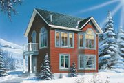 Craftsman Style House Plan - 2 Beds 2 Baths 1088 Sq/Ft Plan #23-2458 Exterior - Front Elevation