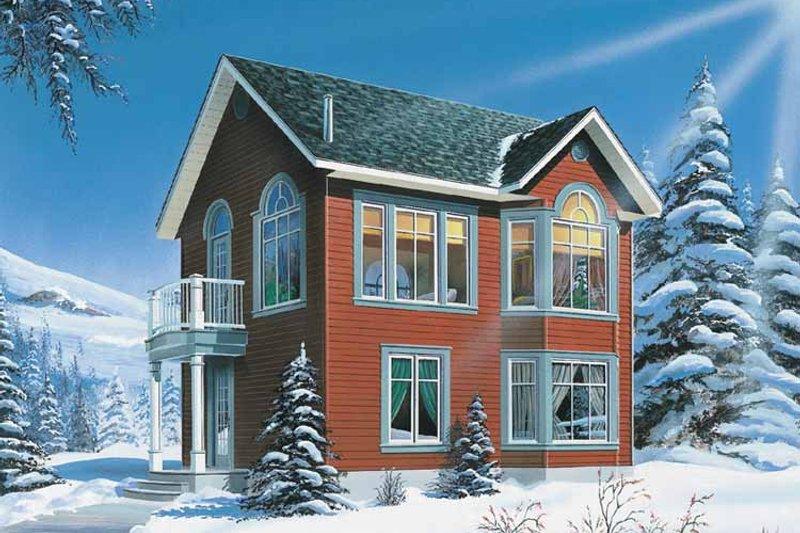 Architectural House Design - Craftsman Exterior - Front Elevation Plan #23-2458