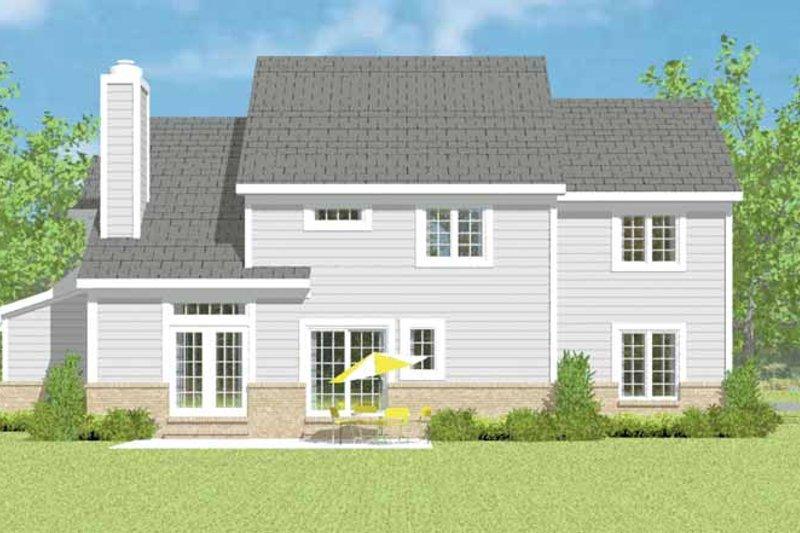 House Blueprint - Traditional Exterior - Rear Elevation Plan #72-1115