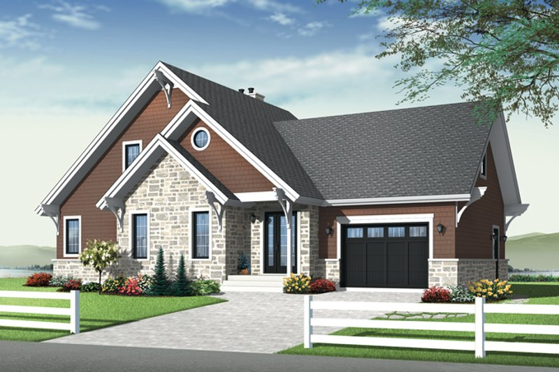 Country Exterior - Front Elevation Plan #23-2562 - Houseplans.com