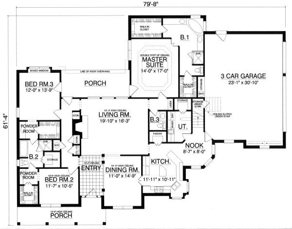European Floor Plan - Main Floor Plan Plan #40-396