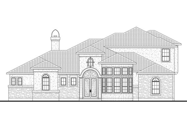 House Plan Design - Mediterranean Floor Plan - Main Floor Plan #80-207