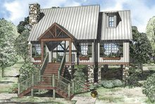 Home Plan - Mediterranean Exterior - Front Elevation Plan #17-3306