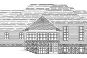 European Style House Plan - 4 Beds 4.5 Baths 5286 Sq/Ft Plan #1064-1 Exterior - Rear Elevation