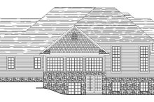 European Exterior - Rear Elevation Plan #1064-1