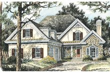 Country Exterior - Front Elevation Plan #429-370