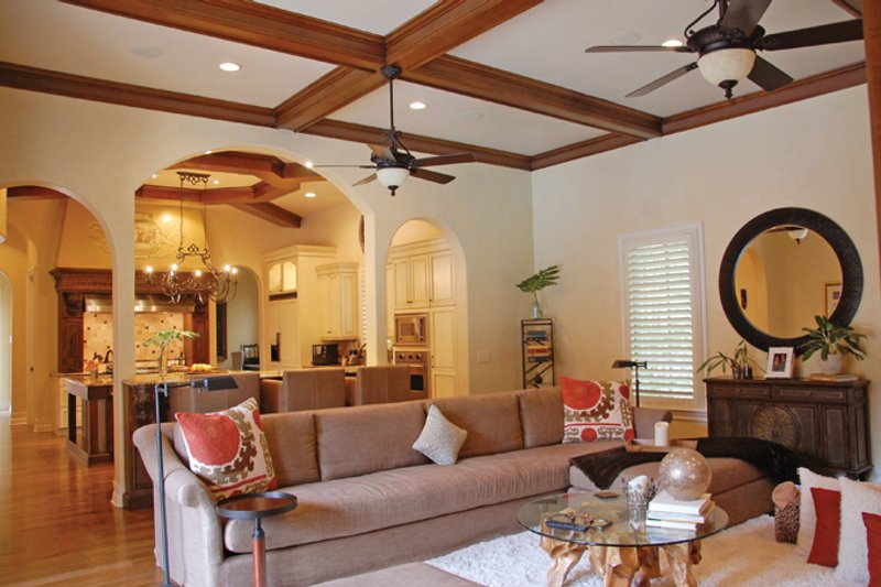 Mediterranean Interior - Family Room Plan #1058-11 - Houseplans.com