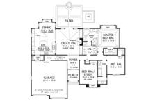 Craftsman Floor Plan - Main Floor Plan Plan #929-923