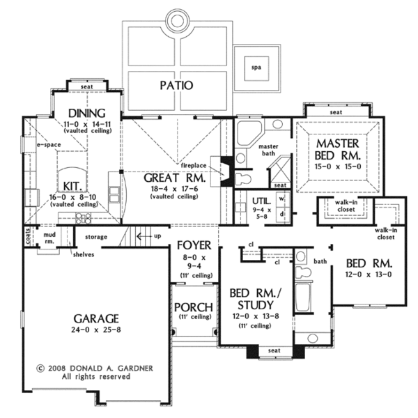 Craftsman Floor Plan - Main Floor Plan Plan #929-923
