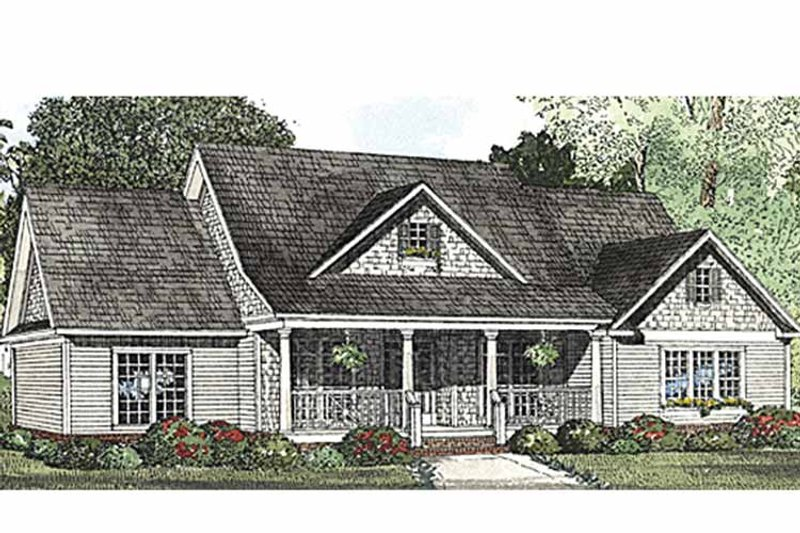Country Exterior - Front Elevation Plan #17-3250 - Houseplans.com
