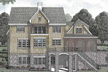 House Plan Design - Country Exterior - Rear Elevation Plan #453-448